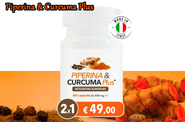 Dimagrante naturale Piperina e Curcuma Plus