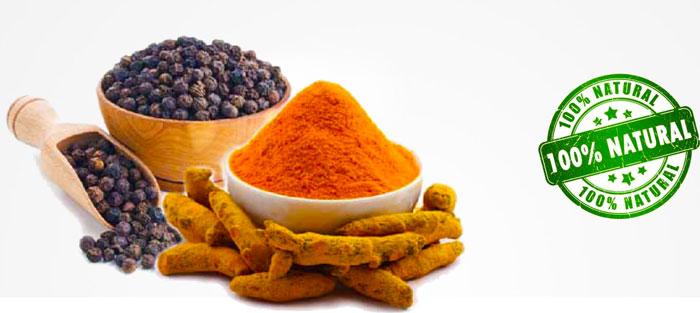 Composizione naturale di Piperina e Curcuma Plus