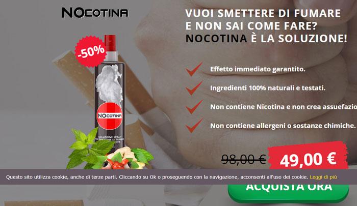 Costo dello Spray per smettere di fumare Nocotina