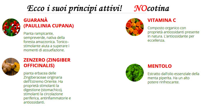Ingredienti naturali di Nocotina