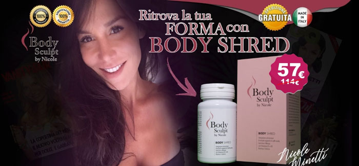 Body Shred integratore di Nicole Minetti