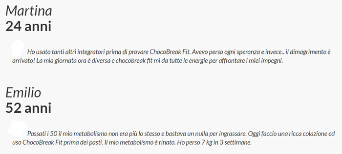 Opinioni su Chocobreak fit