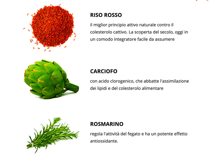 Ingredienti di Zerocol