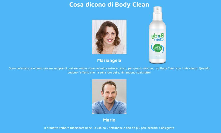 Opinioni e pareri dei clienti su body Clean spray depilatorio