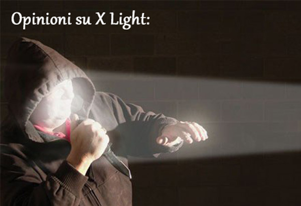 Pareri della torcia X Light